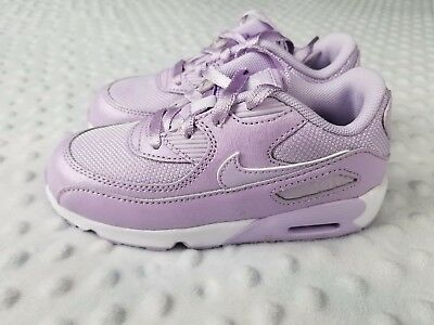 NIKE AIR MAX 90 SE MESH Violet Mist (TD) Toddler Girl's Sneakers Size 10c Shoes