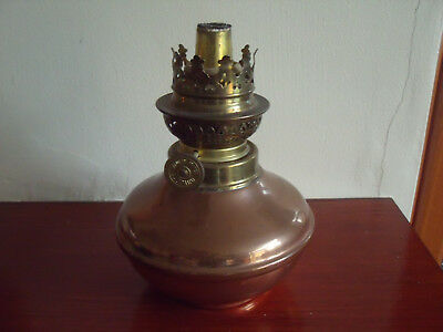 Authentic French Made Copper/Brass Oil Lamp from Villedieu-des-Poeles