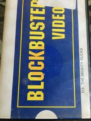 Vintage 1997 Blockbuster Video VHS Case W/ Movie D3 The Mighty Ducks PG Family