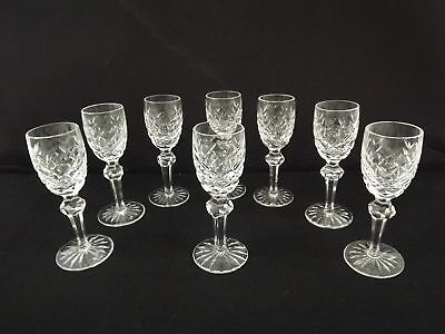 """Waterford Crystal Powerscourt Cordial Shot Glasses 4 5/8""""H (8)"""
