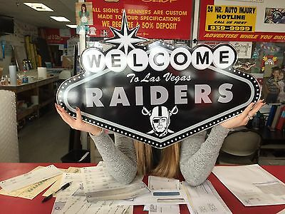 Raiders - Welcome to Las Vegas Sign