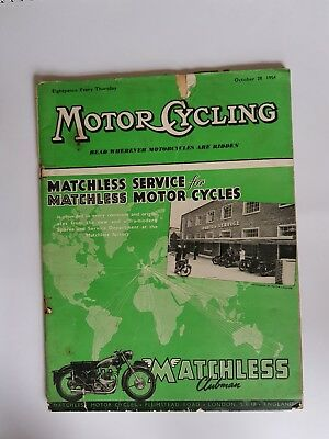 The Motor Cycle 28 OCT 1954 Matchless Norton BSA Trial