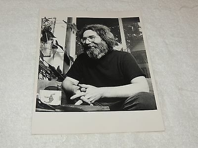 "Grateful Dead - Jerry Garcia 8"" x 10"" - Black & White Print - AWESOME SHOT!!"