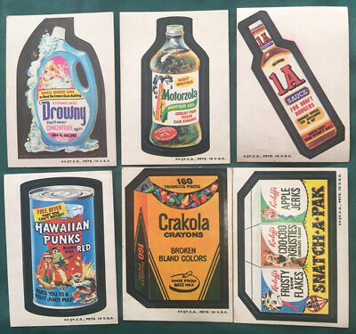 1973 Topps Wacky Packages 3rd Series; 6 cards nice condition