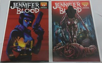 Jennifer Blood #2 Covers B & C by Jonathan Lau and Ale Garza