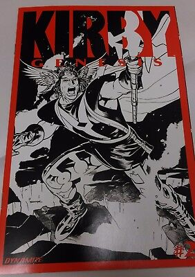 Kirby Genesis #2 from Dynamite comics. Black and White Retailer Incentive cover