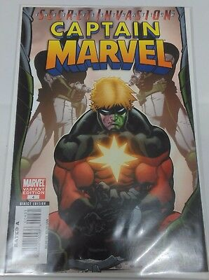 Captain Marvel # 4 Variant Edition, Secret Invasion The Infiltration