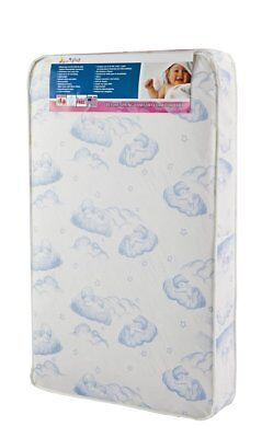 "Dream On Me5"" Inner Spring Play Yard Mattress, White/Blue"