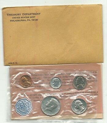 A Very Nice 1964 Us Mint Proof 5 Coin Set With 3 Silver Coins-Oct058