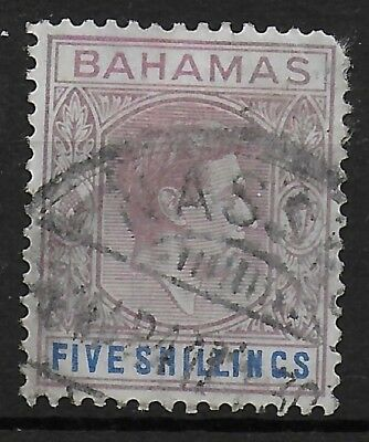 Bahamas SG 156 5s Lilac & Blue Chalky Paper Used Ref:S7.109