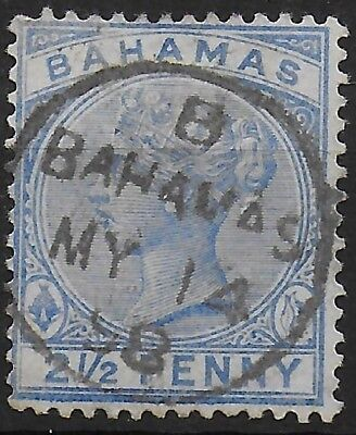 Bahamas SG 51 21/2d Blue Very Fine Used Ref:S7.144