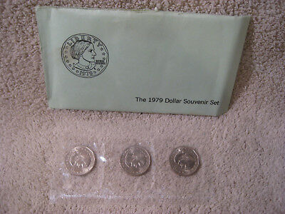 1979 Susan B. Anthony 3 coin souvenir set ~~First year for Anthony dollar