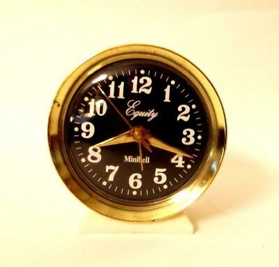 Vintage Retro Equity Minibell Wind-Up Alarm Clock-Luminous Hands and Hour Marks
