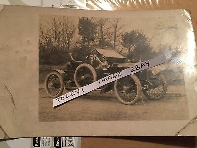 1909 Rp Postcard Of A Veteran Car