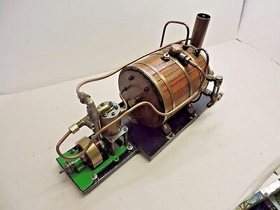 Scratch Built Live Steam Plant With Wooden Clad Copper & Brass Boiler
