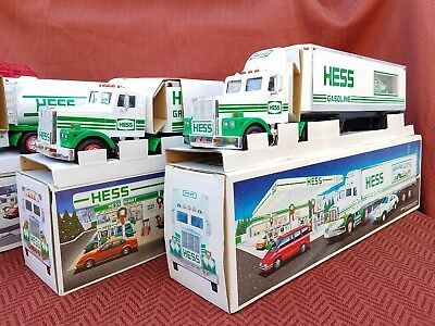 Vintage Collectible Hess Toy Trucks Lot of 4, 1989 - 1992  w/ boxes