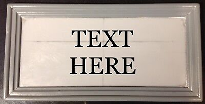 "SOLID LEAD HOUSE BESPOKE NAME PLAQUE. "" YOUR TEXT  "" 30mm lettering"