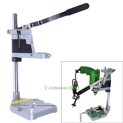 Electric Double-head Drill Holding Holder Bracket Grinder Rack Stand Clamp Tool