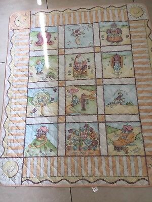 Baby's Thin Cot Quilt / Playmat. Nursery Rhyme Theme From Mother Care