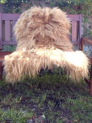 Real icelandic sheepskin rug colour sand/brown size;135-80 XXL
