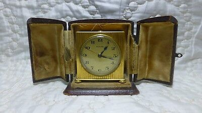 Vintage -Art Deco - 1920s - Zenith - Travel Clock - With Case - Spares Or Repair