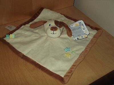 Tesco With Love My First Puppy Dog    Blankie Comforter Soft Toy Nwt