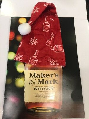 MAKERS MARK WHISKY CHRISTMAS BOTTLE CAP/HAT. Free Shipping