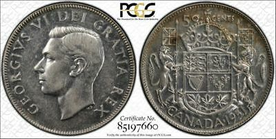 1951 Canada Silver 50 Cents Wide Date Half Dollar PCGS AU55 About Unc 50C Coin