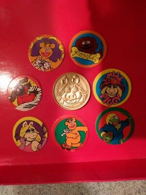 Muppets Miss Piggy pog striker and small lot of pogs