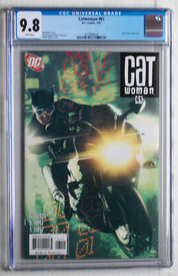 Catwoman (2002 3rd Series) # 61 CGC (not CBCS) NM/MT 9.8 Adam Hughes Cover White
