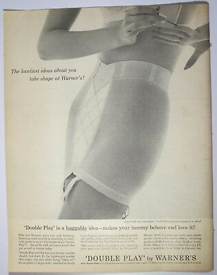 1961 Warner's Double Play Girdle Lingerie Print Ad