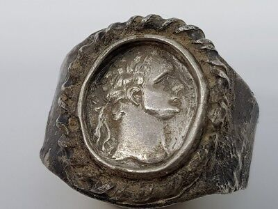 44. Roman Silver Ring - internal size - 23mm