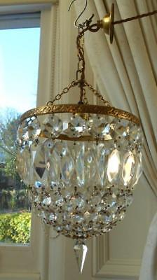 Vintage French Chic Crystal Bag Chandelier