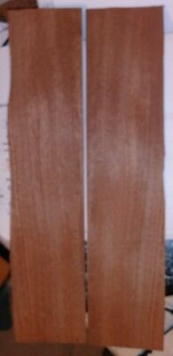 """2 pieces mahogany wood veneer 18x4 each & 18"""" x 8"""" of total area guitar Luthier"""