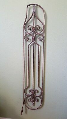 """Antique Cast Iron Wall, Window, Door Topper Pediment 35"""" Salvage France Or Egypt"""