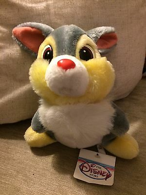 """Rare Vintage Disney Store 12"""" Thumper soft toy complete with tags"""