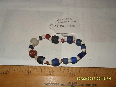 Small strand of Choctaw trade beads LaFlore County, Oklahoma 1820-1830