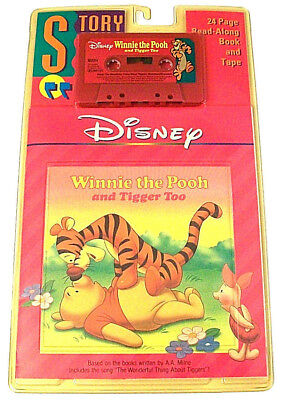 Winnie The Pooh Tigger Disney Story 24 Page Read-Along Book + Cassette Tape Vtg
