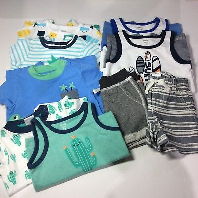 Baby Boy 3 6 month Clothes Lot Gymboree Crazy 8 cactus surf pineapple outfits