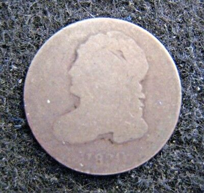 1830 Capped Bust Dime Silver Heavy Circulation