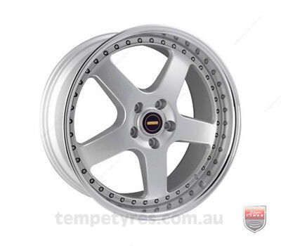 TOYOTA KLUGER 2000 TO 2007 WHEELS PACKAGE: 20x8.5 20x9.5 Simmons FR-1 Silver and