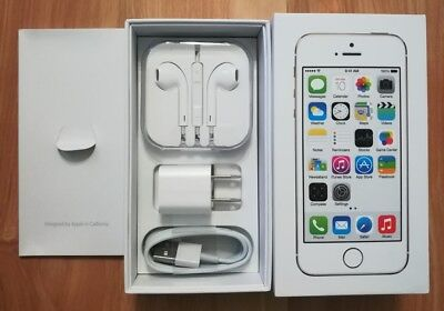 USED Original iPhone 5S 16GB Silver Box and Accessories Bundle NO PHONE!