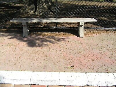Rustic Old Garden Seat Concrete and Wooden Bench Seat Garden Ornament
