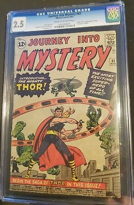 Journey into Mystery 83 CGC 2.5 Blue Label cr/OFF White pages 1st Thor