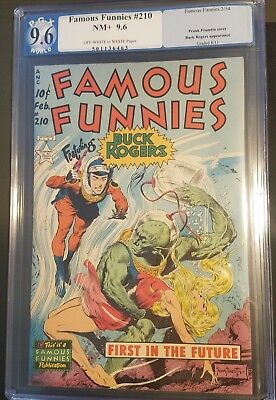 Famous Funnies 210 NM+ 9.6 Blue Label OW White pages Classic Frazetta cover