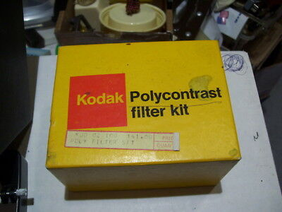 KODAK VINTAGE POLYCONTRAST FILTER KIT MODEL A in ORIGINAL BOX NICE FILTERS