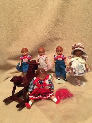 "Effanbee Wee Patsy Dolls 5"" Lot Of 5"