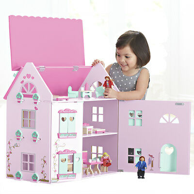 Universe of Imagination Country Mansion with Accessories Tabletop Doll House