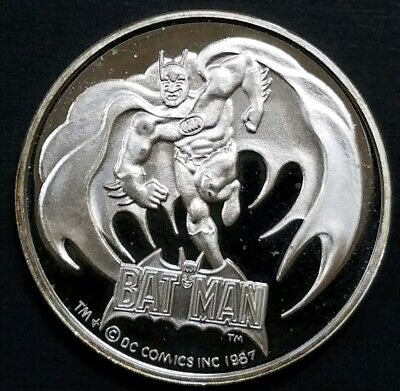 Batman Hero in Black Limited Edition 50th Anniversary 1 oz 999 Silver Round Coin