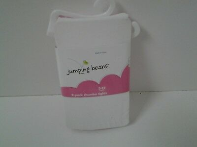 Jumping Beans 2 Pack Rhumba Tights 3 to 12 Months White and Pink